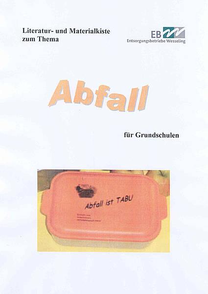 Literatur- und Materialkiste zum Thema Abfall für Grundschulen